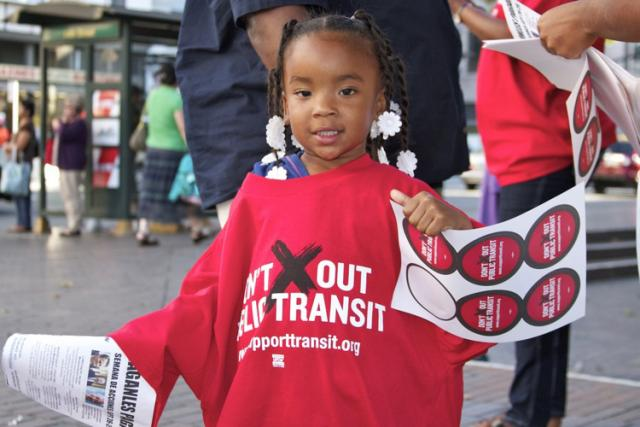 Free MUNI Youth Pass Campaign and National Day of Action for Public Transit Funding. ©2011 Joe Feria-Galicia/Urban Habitat